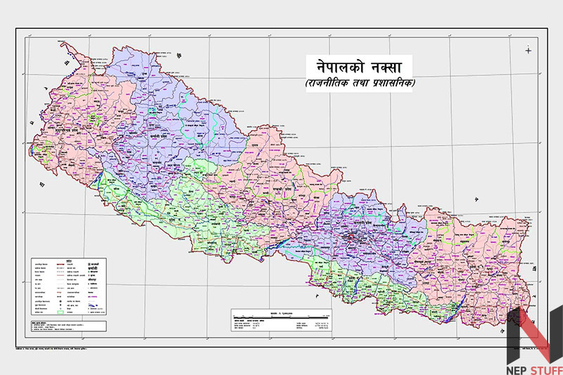 Nepal's new and updated map.