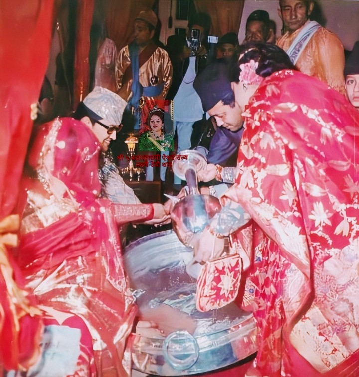 Kanyadan ceremony performed during the wedding of king Birendra and Queen Aishwarya
