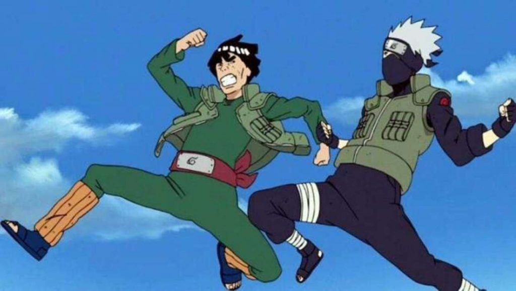 Guy and Kakashi